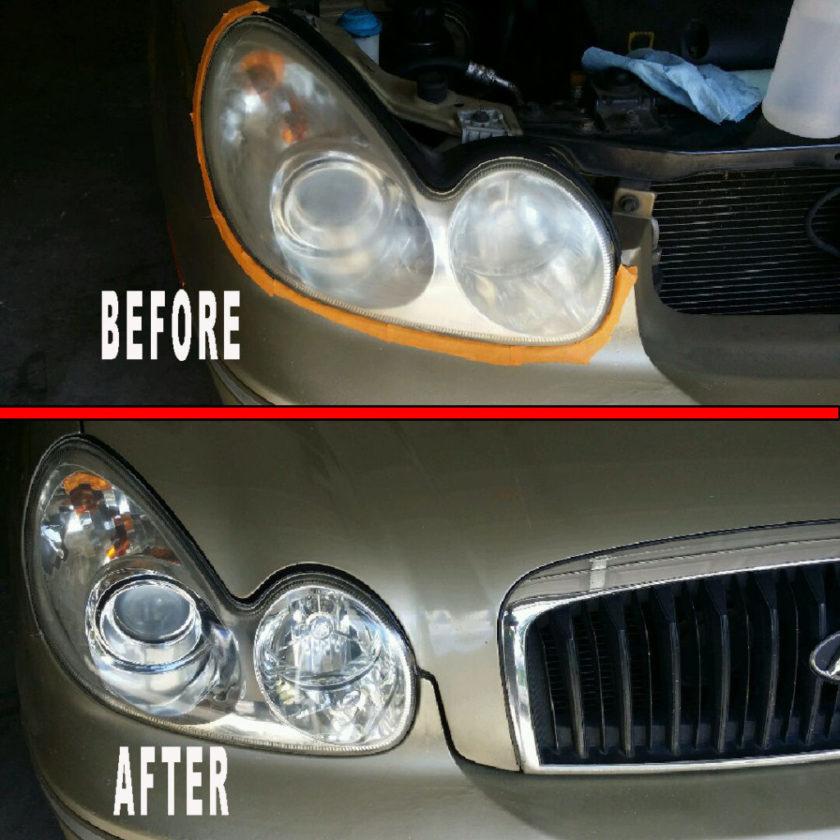 Hyundai headlights - Professional headlight restoration service