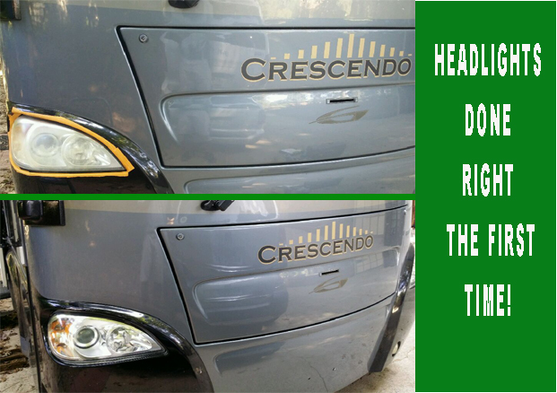 Professional headlight restoration service